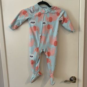 Child of Mine Carter's Pink Elephant Footie PJs